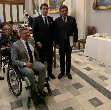Delegazione FAND a Palazzo Chigi, Roma 2 settembre 2019 (Foto Uff. Stampa FAND)